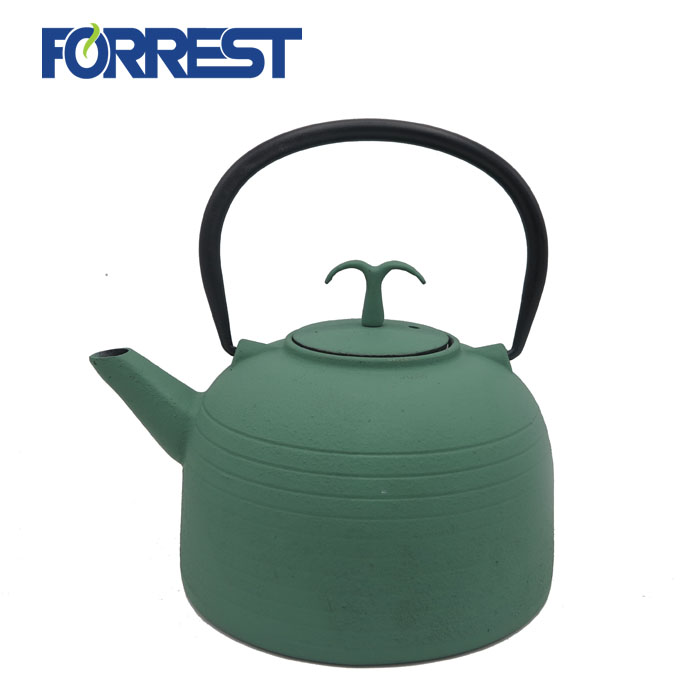 Enamel Tea Kettle cast iron metal teapot with Stainless Steel Infuser